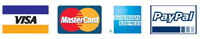 We accept VISA, MasterCard, Amercian Express and PayPal payments.